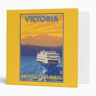 Ferry and Mountains - Victoria, BC Canada 3 Ring Binder