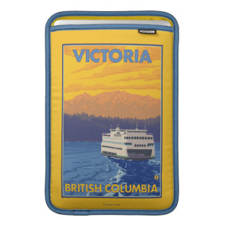 Ferry and Mountains - Victoria, BC Canada MacBook Sleeves