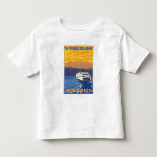 Ferry and Mountains - Whidbey Island, Washington Toddler T-shirt
