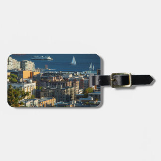Ferry And Sailboats In The Puget Sound Bag Tag