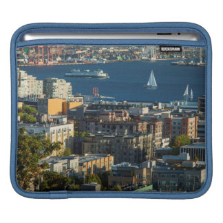 Ferry And Sailboats In The Puget Sound iPad Sleeve
