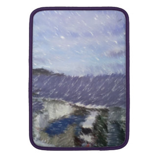 ferry and sea art MacBook sleeves