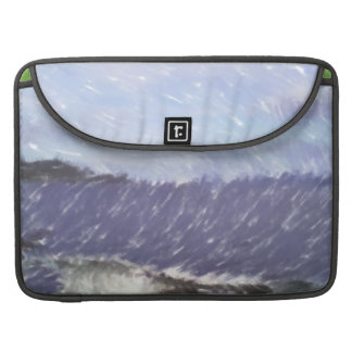 ferry and sea art sleeve for MacBooks