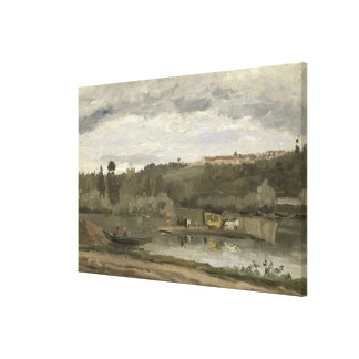 Ferry at Varenne-Saint-Hilaire, 1864 Gallery Wrapped Canvas