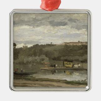 Ferry at Varenne-Saint-Hilaire, 1864 Metal Ornament