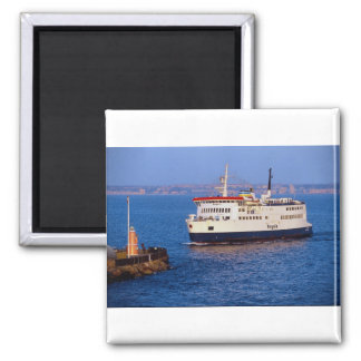 Ferry between Sweden and Denmark, Helsingborg 2 Inch Square Magnet