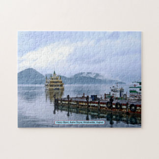 Ferry Boat, Lake Toya, Hokkaido, Japan Jigsaw Puzzle
