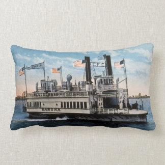 Ferry Boat Ramona San Diego Coronado CA Vintage Throw Pillows