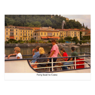 Ferry boat to Como1 Postcard