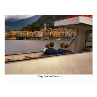 Ferry boat to Como Postcard