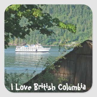 Ferry & Boathouse Square Sticker