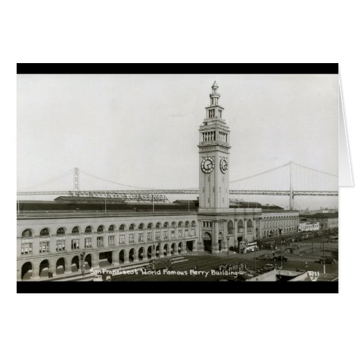 Ferry Building, San Francisco Vintage Card