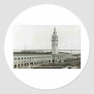 Ferry Building, San Francisco Vintage Classic Round Sticker