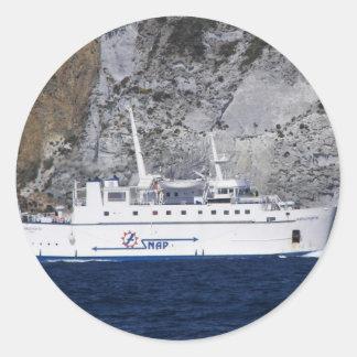 Ferry Carloforte Classic Round Sticker