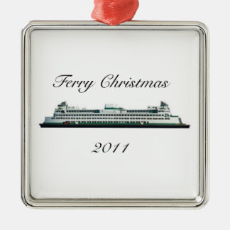 Ferry Christmas Metal Ornament