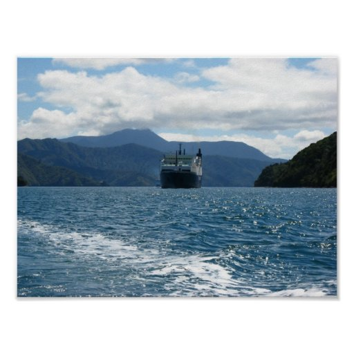 Ferry Crossing Cook Strait Poster