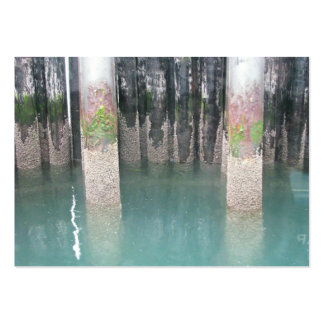 Ferry Dock Pilings Business Card Template