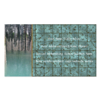 Ferry Dock Pilings Business Card Templates