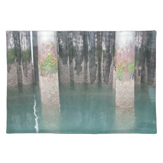 Ferry Dock Pilings Place Mats