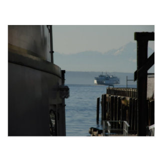 Ferry in Puget Sound Postcard