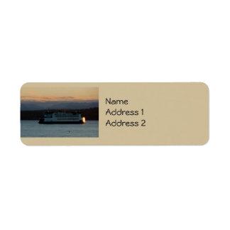 Ferry on the Sound Custom Return Address Label