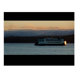 Ferry on the Sound Postcard