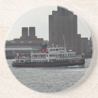 Ferry Over the River Mersey Drink Coasters