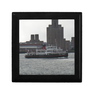 Ferry Over the River Mersey Trinket Boxes