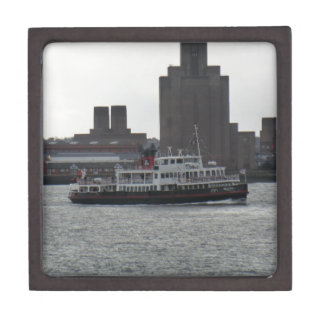 Ferry Over the River Mersey Premium Jewelry Boxes
