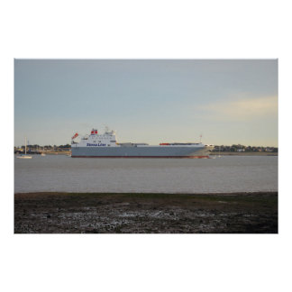Ferry Severine On The River Stour Poster