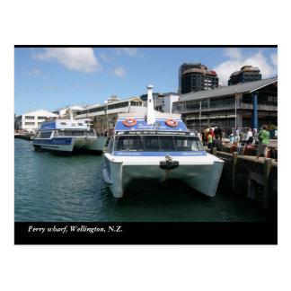 Ferry terminal, Wellington, N.Z. Postcard