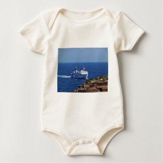 Ferry Tetide Approaching Ventotene Baby Bodysuit