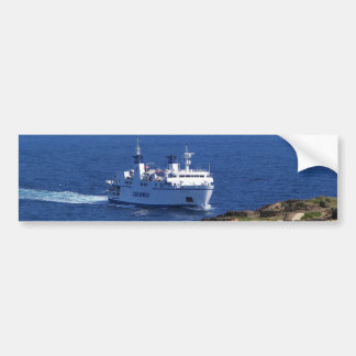 Ferry Tetide Approaching Ventotene Bumper Sticker