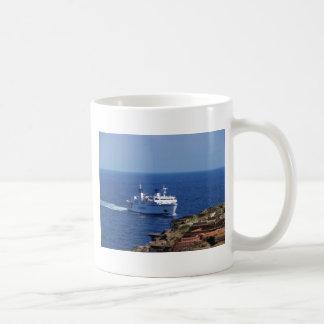 Ferry Tetide Approaching Ventotene Coffee Mug