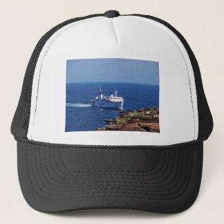 Ferry Tetide Approaching Ventotene Trucker Hat