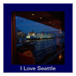 Ferry through the Window = I Love Seattle Print