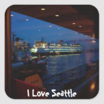 Ferry through the Window Square Sticker