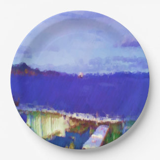 ferry view 9 inch paper plate