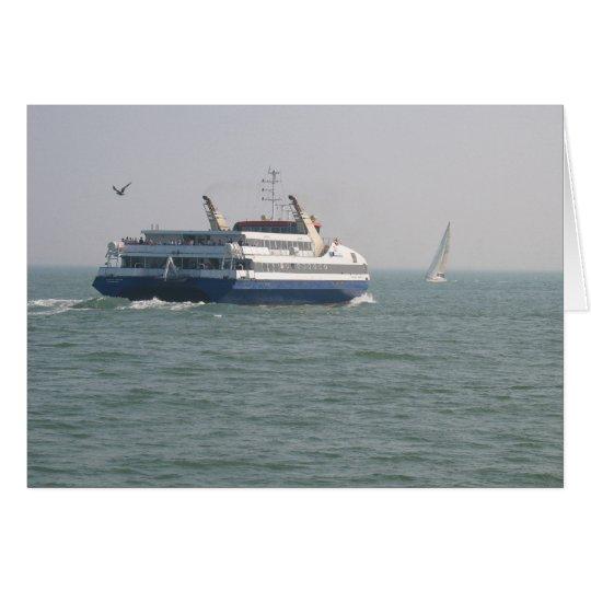 Ferry Vlissingen to Breskens on Scheldt Photo Card
