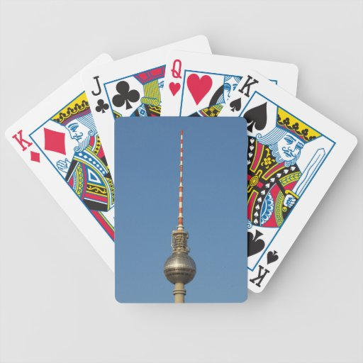 Fersehturm Television Tower Berlin Germany Poker Cards
