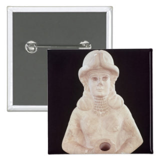 Fertility goddess, from Mari, Middle Euphrates 2 Inch Square Button