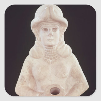 Fertility goddess, from Mari, Middle Euphrates Square Sticker