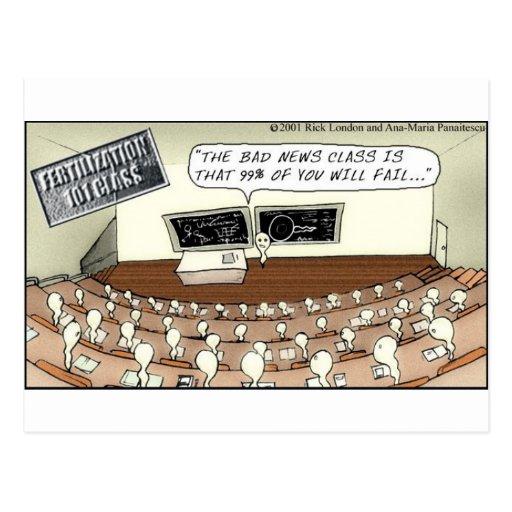 Fertilization 101 Hilarious Cartoon Gifts & Tees Postcard