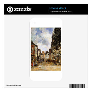 Fervaques, a Village Street by Eugene Boudin Skin For The iPhone 4