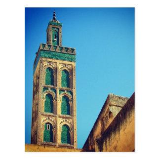fes minaret postcard