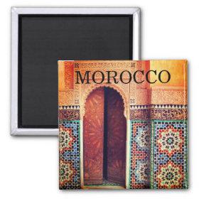 fes morocco doorway magnet