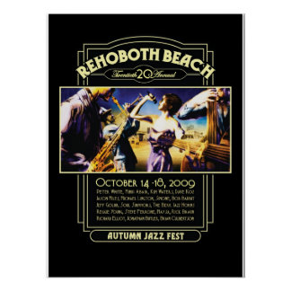 Fest 2009 del jazz del otoño de la playa de Rehobo Póster