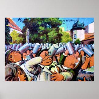Fest alemán del Brew Póster