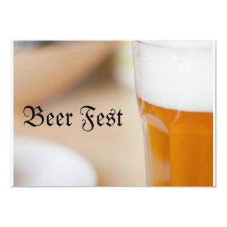 """Fest de la cerveza invitación 5"""" x 7"""""""