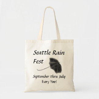 Fest de la lluvia de Seattle Bolsas Lienzo